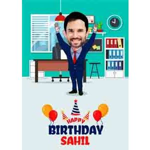 Digital Gifts-best theme caricature for birthday online