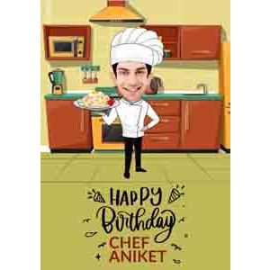 Digital Gifts-funny bday theme caricature online