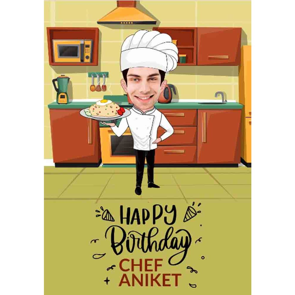 funny bday theme caricature online