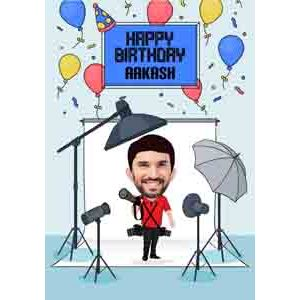 Digital Gifts-online caricature for him birthday