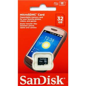SanDisk 32GB Class 4 micro SDHC Memory Card