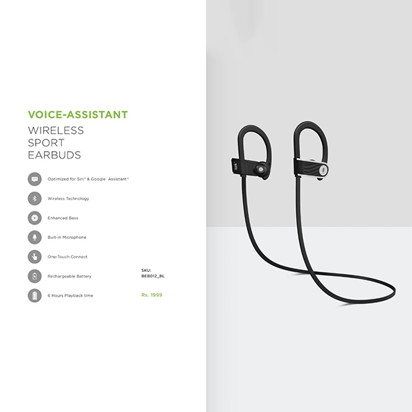 VOICE ASSISTANT WIRELESS SPORT EARBUDS