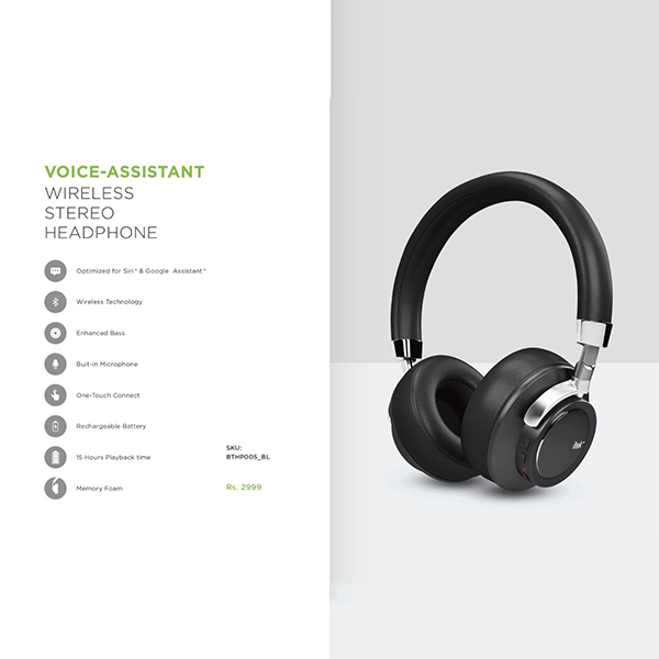 VOICE ASSISTANT WIRELESS STEREO HEADPHONE