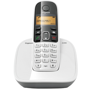 Telephone Handsets-Siemens Cordless Phone - Gigaset A 490
