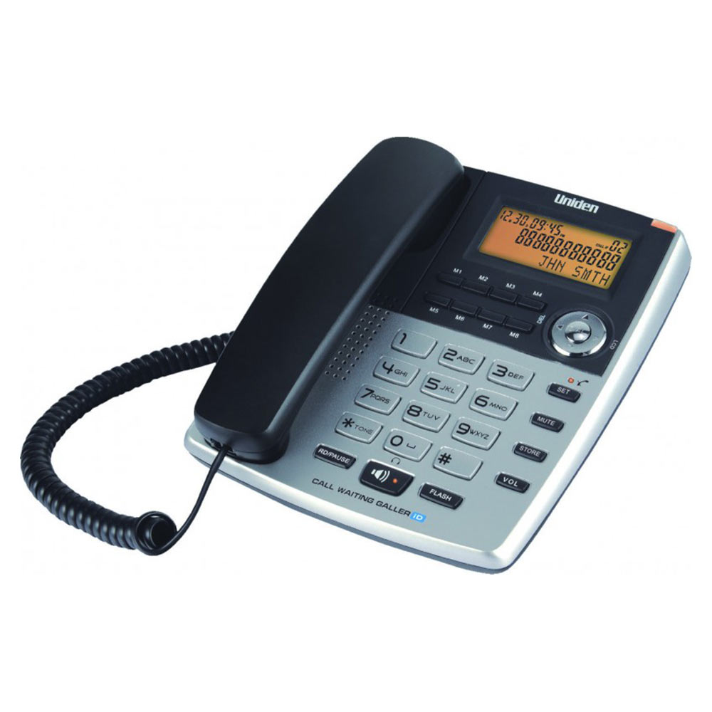 Telephone Handsets-Uniden As7403 Titanium Corded Landline Phone