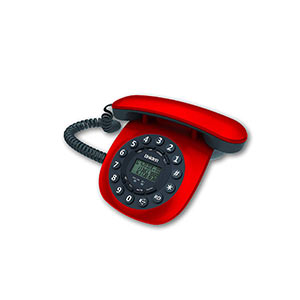 Telephone Handsets-Uniden At8601 Red Corded Landline Phone
