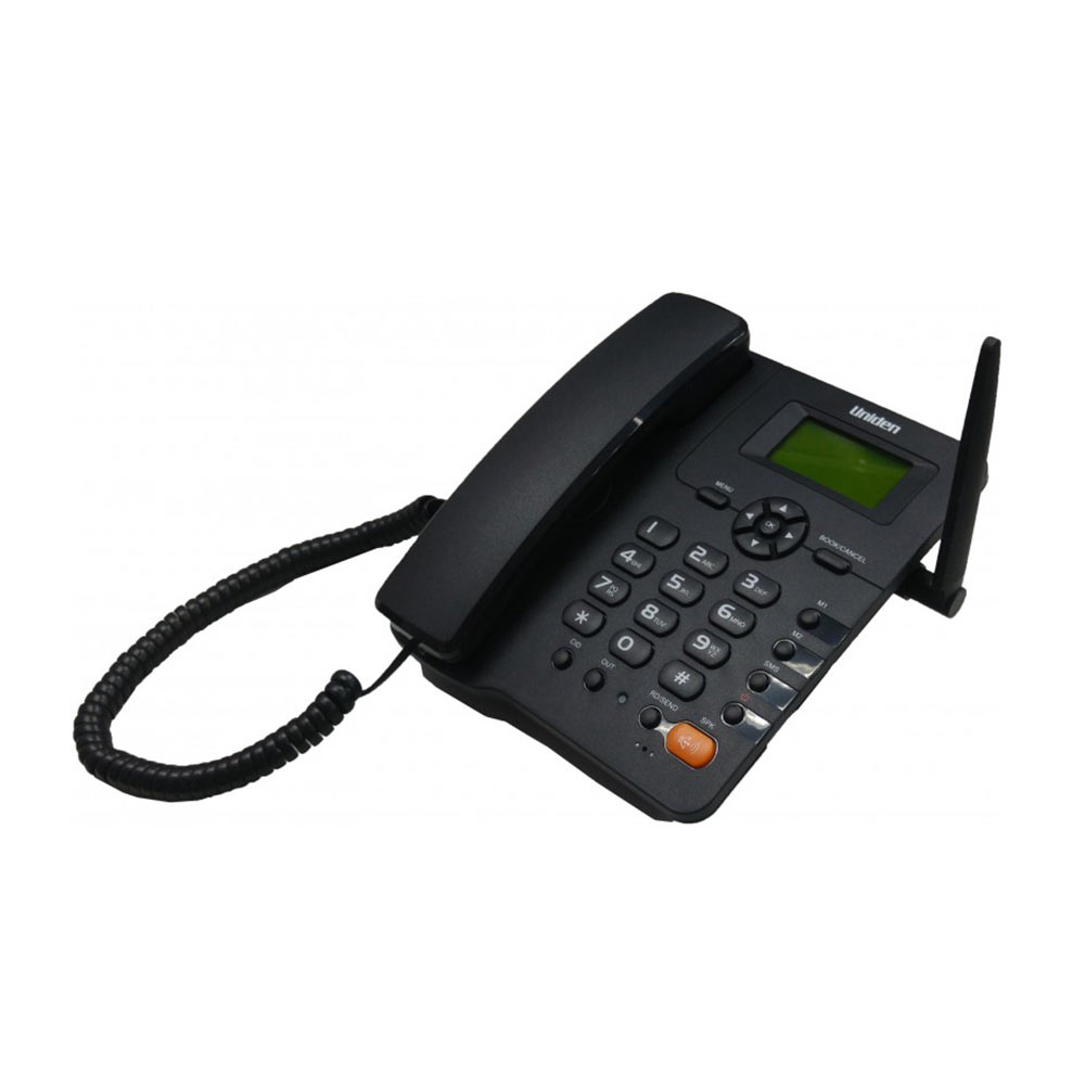 Telephone Handsets-Uniden Fwp001 Black Corded Simcard Phone