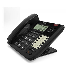 Telephone Handsets-Uniden At8502 Black Corded 2-Line Phone