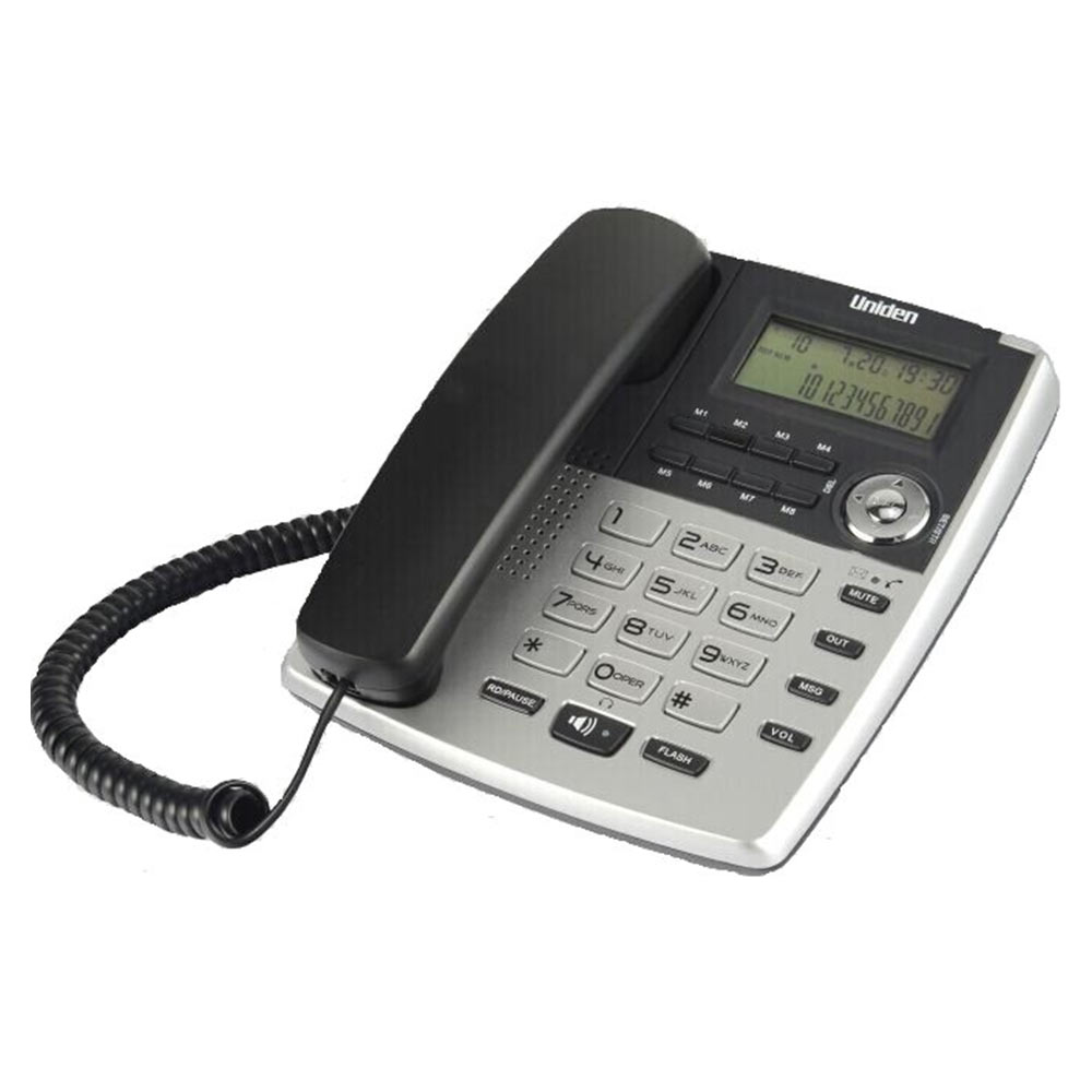 Uniden As7401 Silver Corded Landline Phone