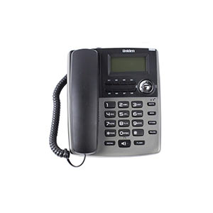 Telephone Handsets-Uniden As7401 Titanium Corded Landline Phone