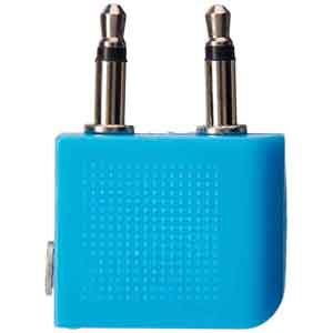 Charger-Travel Blue Airline Headphone Adaptor