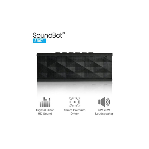 Speakers-SoundBot SB571 12W Bluetooth wireless speaker (Black)