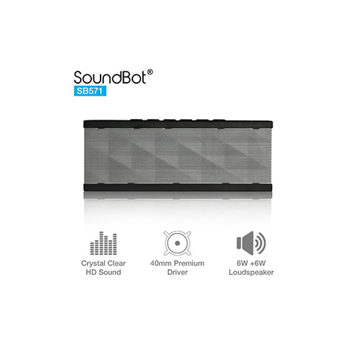 Speakers-SoundBot SB571 12W Bluetooth wireless speaker (sliver)