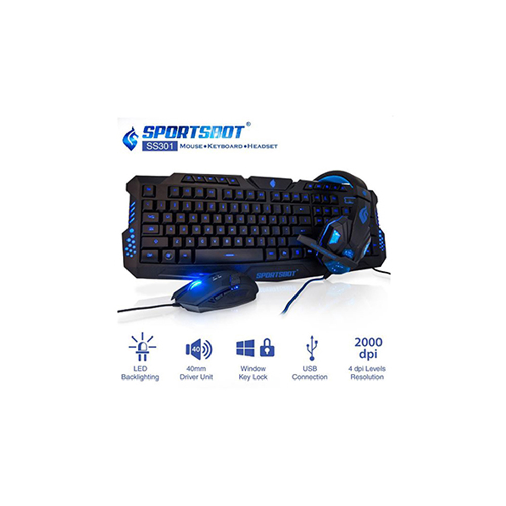 SportsBot SS301 gaming combo set