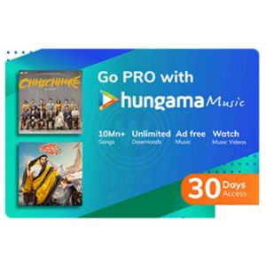 Digital Gift Cards-Hungama Music- 1 Month Subscription