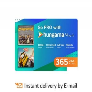 Digital Gift Cards-Hungama Music- 12 Month Subscription