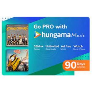 Digital Gift Cards-Hungama Music- 3 Month Subscription