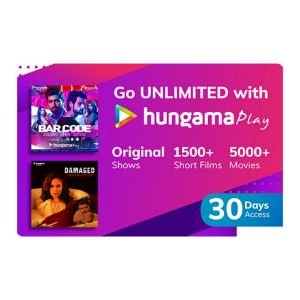 Digital Gift Cards-Hungama Play- 1 Month Subscription