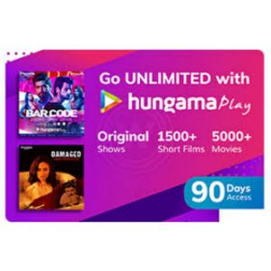 Digital Gift Cards-Hungama Play- 3 Month Subscription