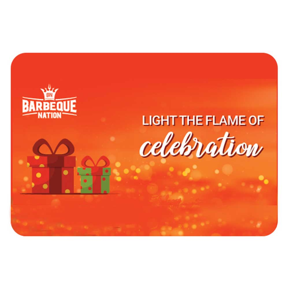 Barbeque Nation Egift Voucher- 2000