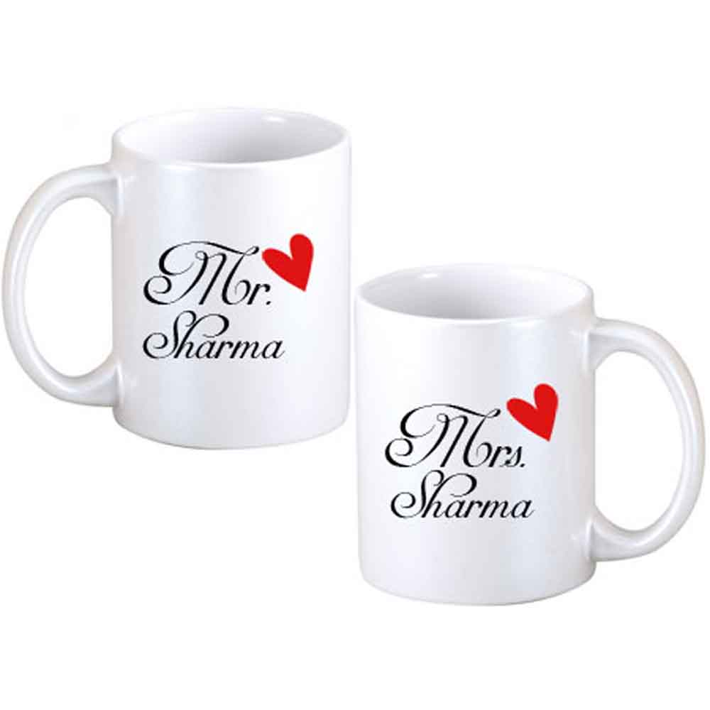 Gifts for Father's Day-Father Day Mr. & Mrs. Personalized Couple Mugs