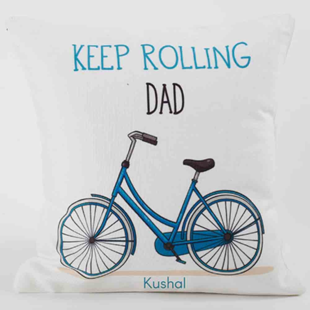 Quirky Gifts-Personalized Cushion For Strong Dad