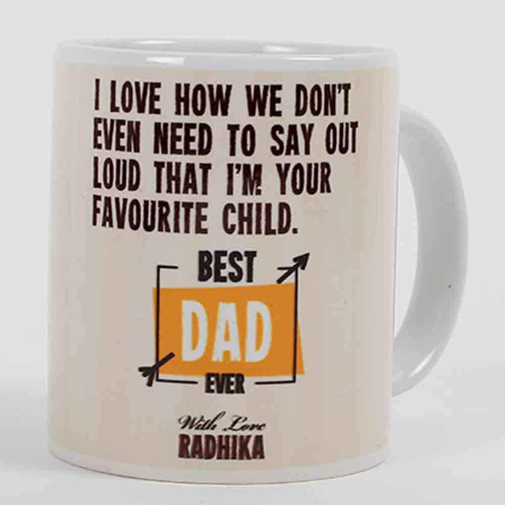 Quirky Gifts-Best Dad Personalized Mug