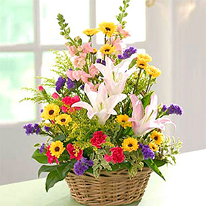 Flower Baskets-Exotic Arrangement