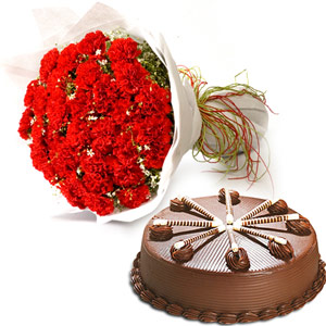 Cakes & Flowers-Sweety Combo