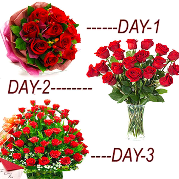 3 Fresh Rosy Days