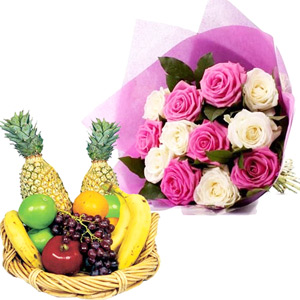 Fruit Hampers-Brighten Your Day with Fruits And Roses