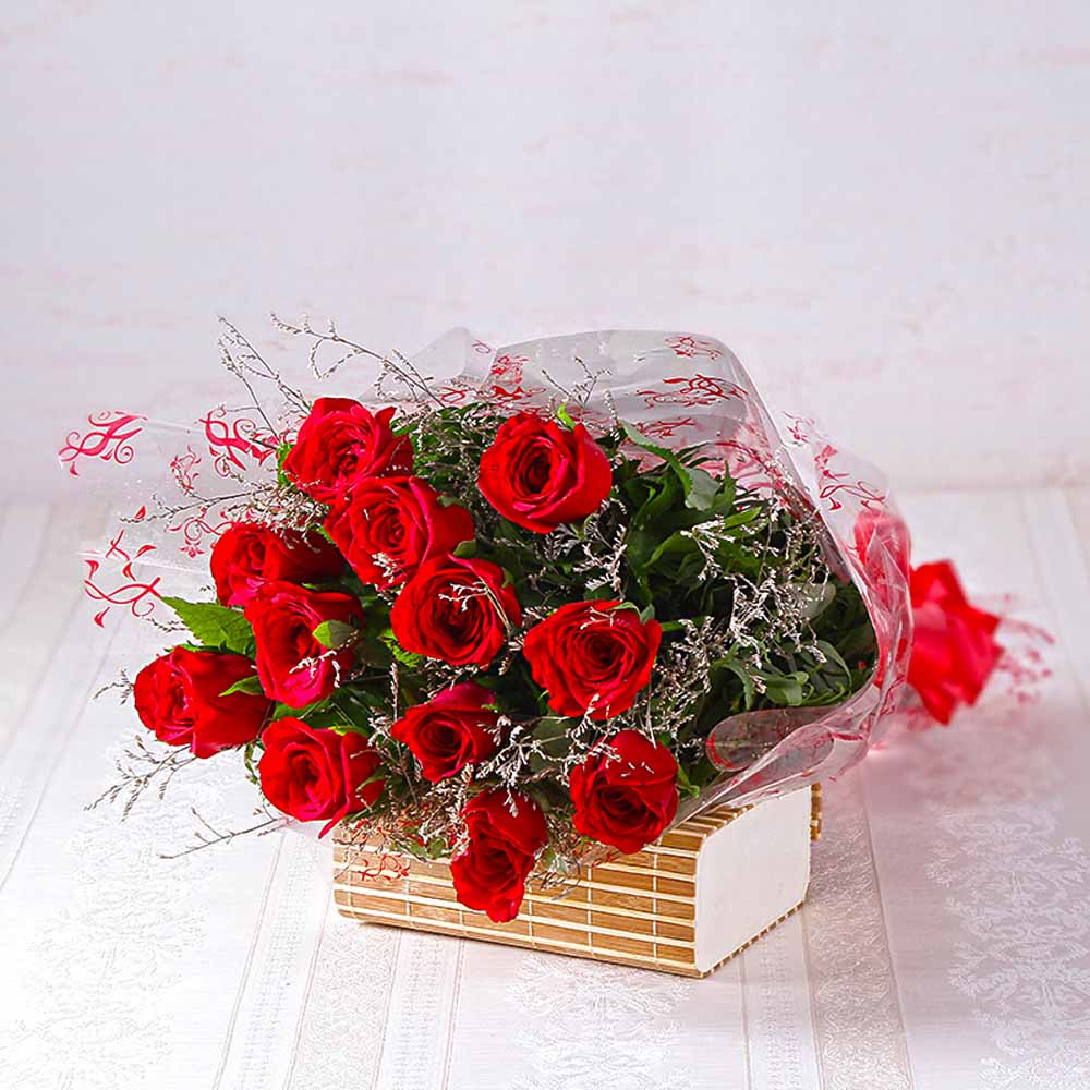 Red Roses-Bouquet of Dozen Red Roses