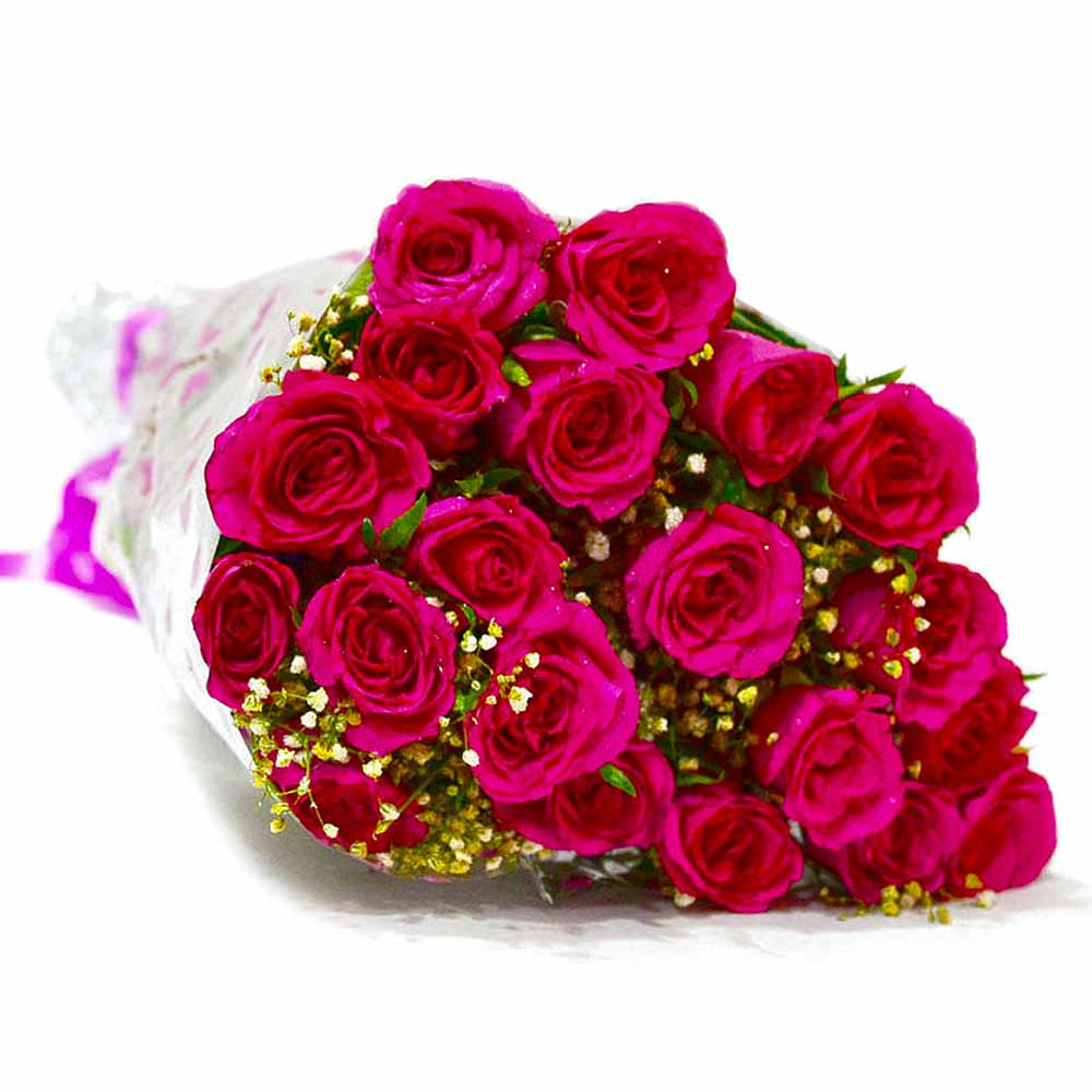 Red Roses-Bouquet of Twenty Pink Roses