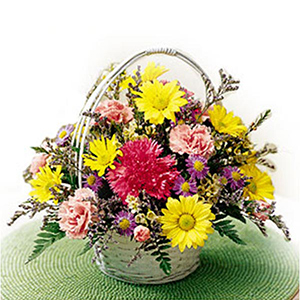 Seasonal Flowers-Basket Of Cheer