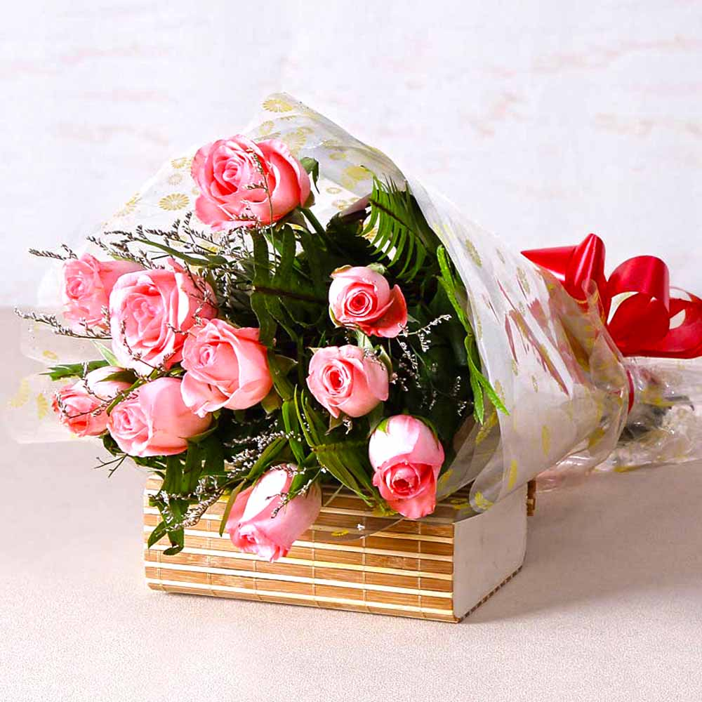 Red Roses-Soft Pink Roses Bunch