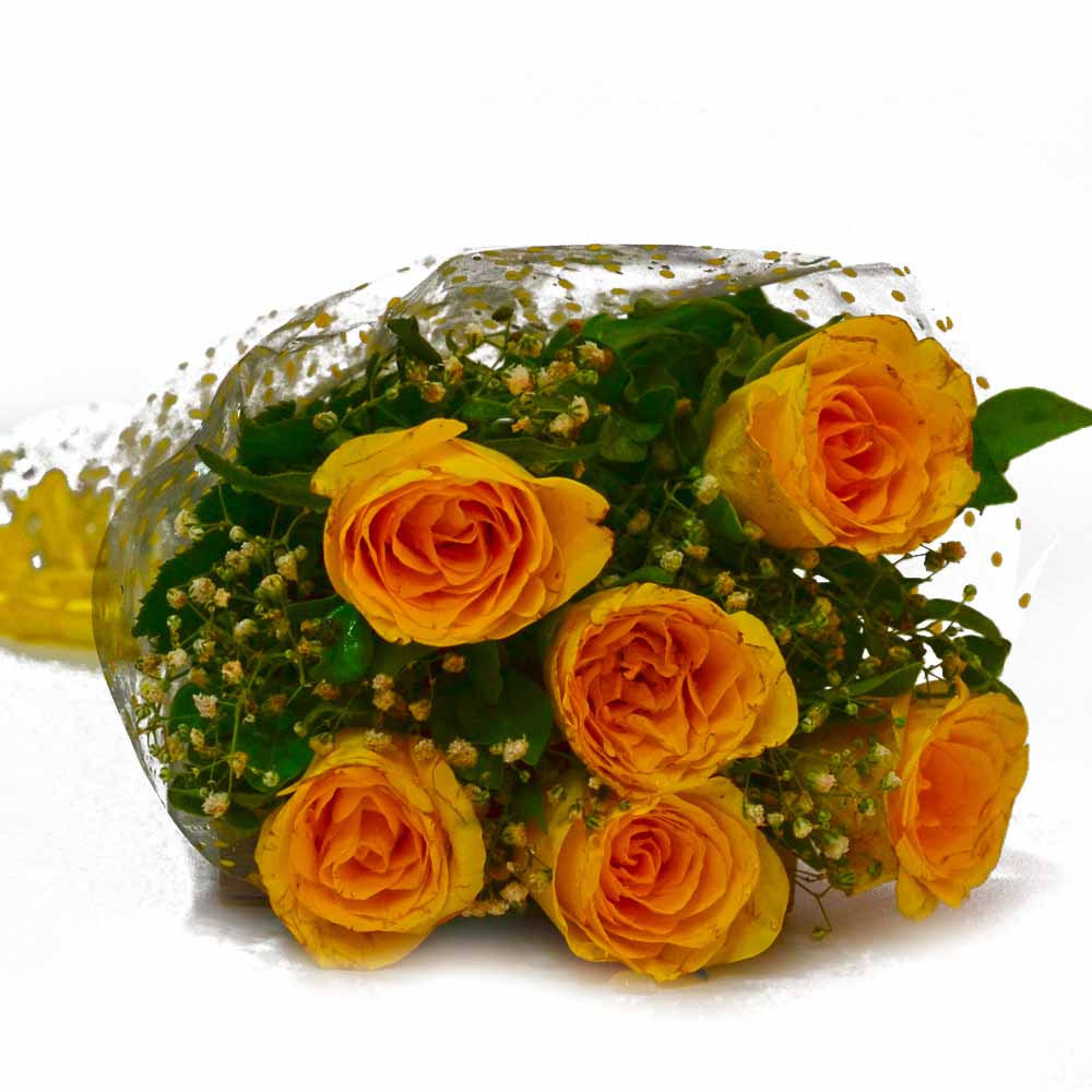 Red Roses-Birthday Special Yellow Roses Bunch