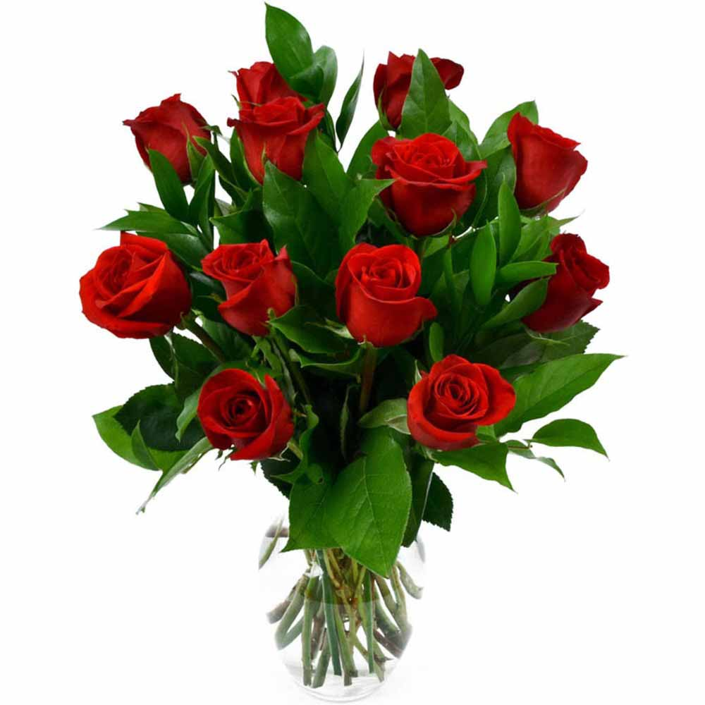 Red Roses-Romantic Gift Bouquet of Red Roses