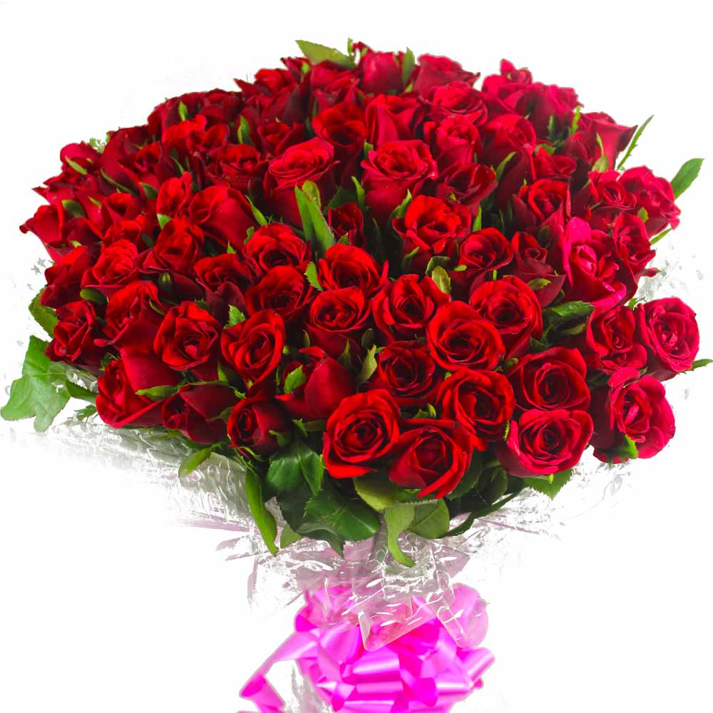 Red Roses-100 Red Roses Bouquet