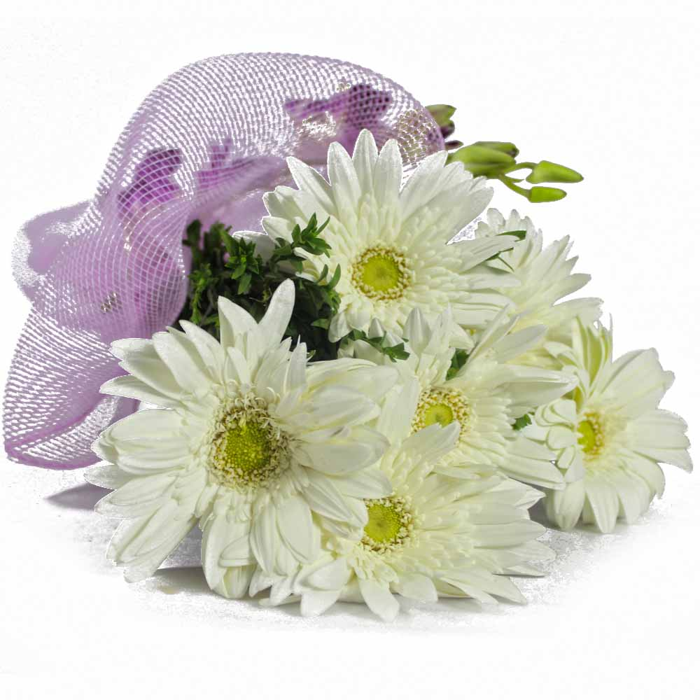 Exclusive Bouquet of White Gerberas