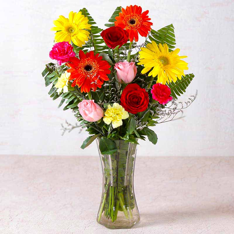 Vase Arrangements-Beautiful Vase of Fresh Flowers