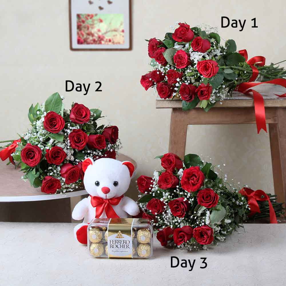 Red Roses-Three Days Delivery for love ones