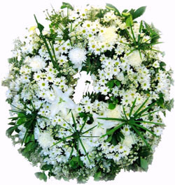 Wreaths & Sympathy Flowers-White Wreath