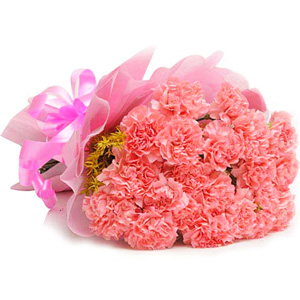 Midnight Delivery-15 Pink Carnations - Midnight Delivery