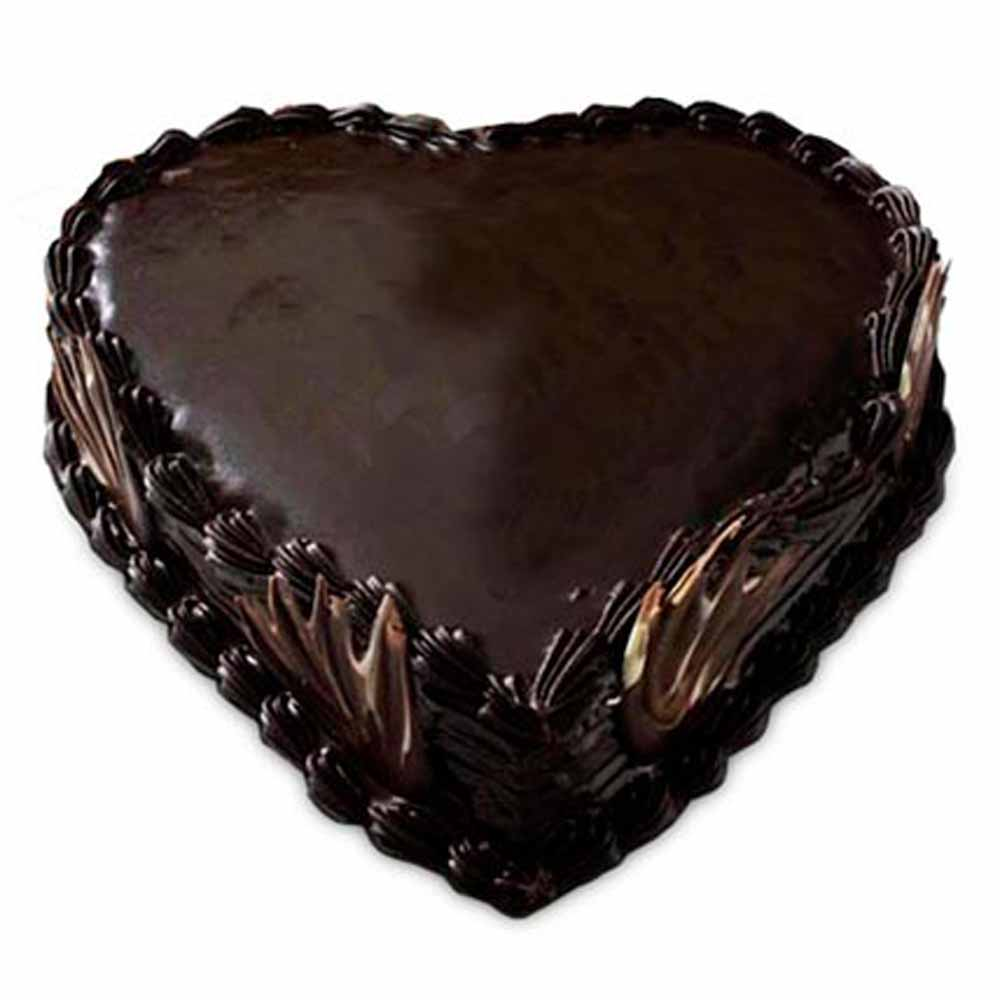 All India Cakes-Heart Shape Truffle Cake
