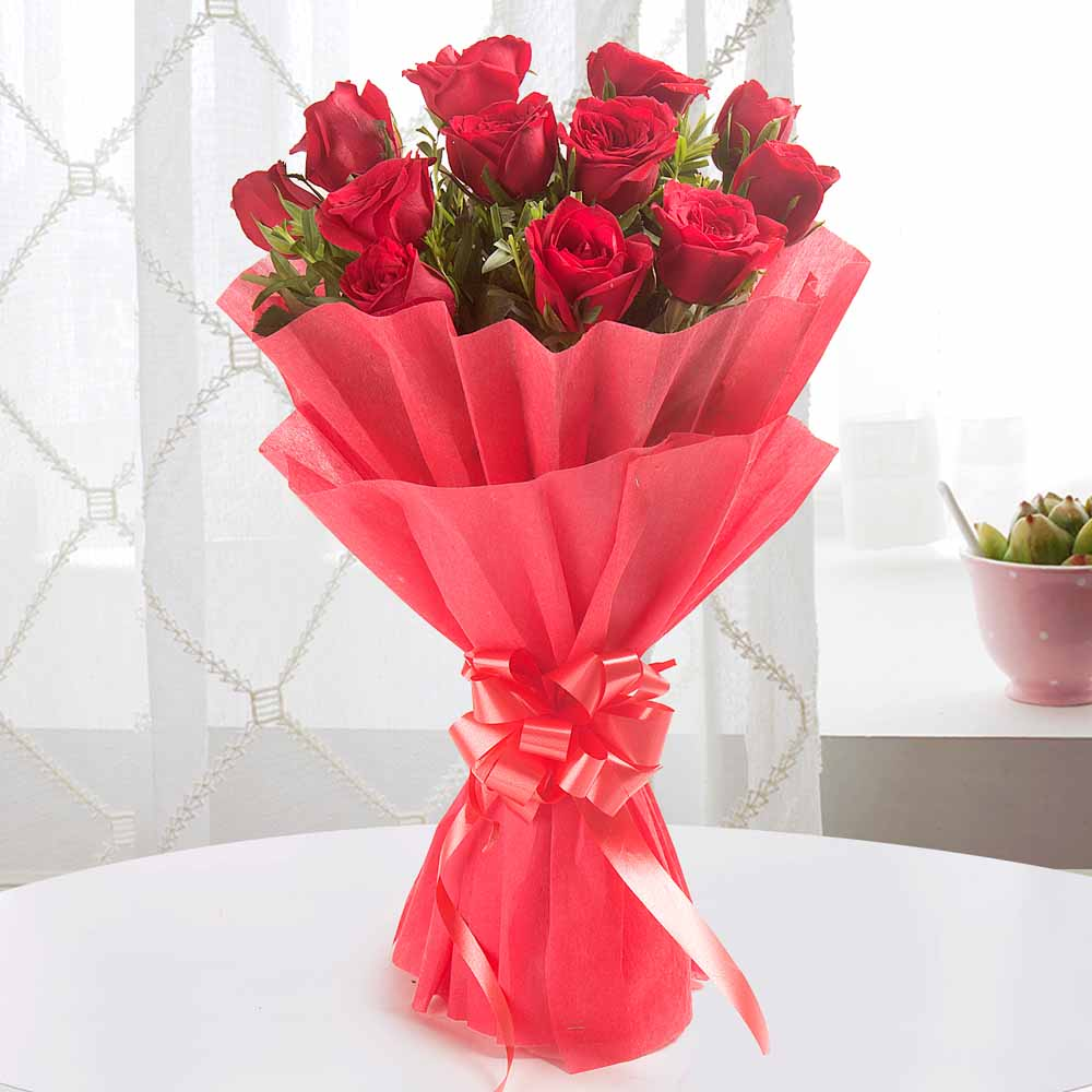 Midnight Delivery-Enigmatic 12 Red Roses - Midnight Delivery