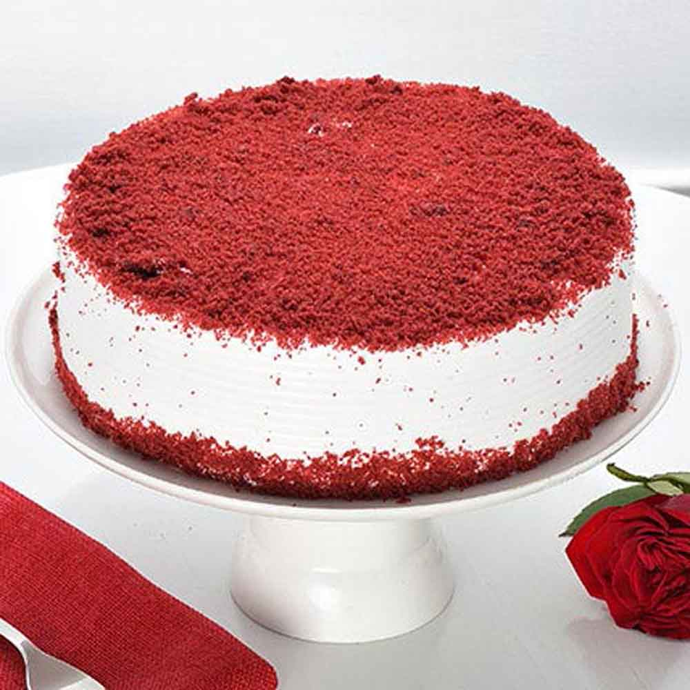 All India Cakes-Red Velvet Fresh Cream Cake