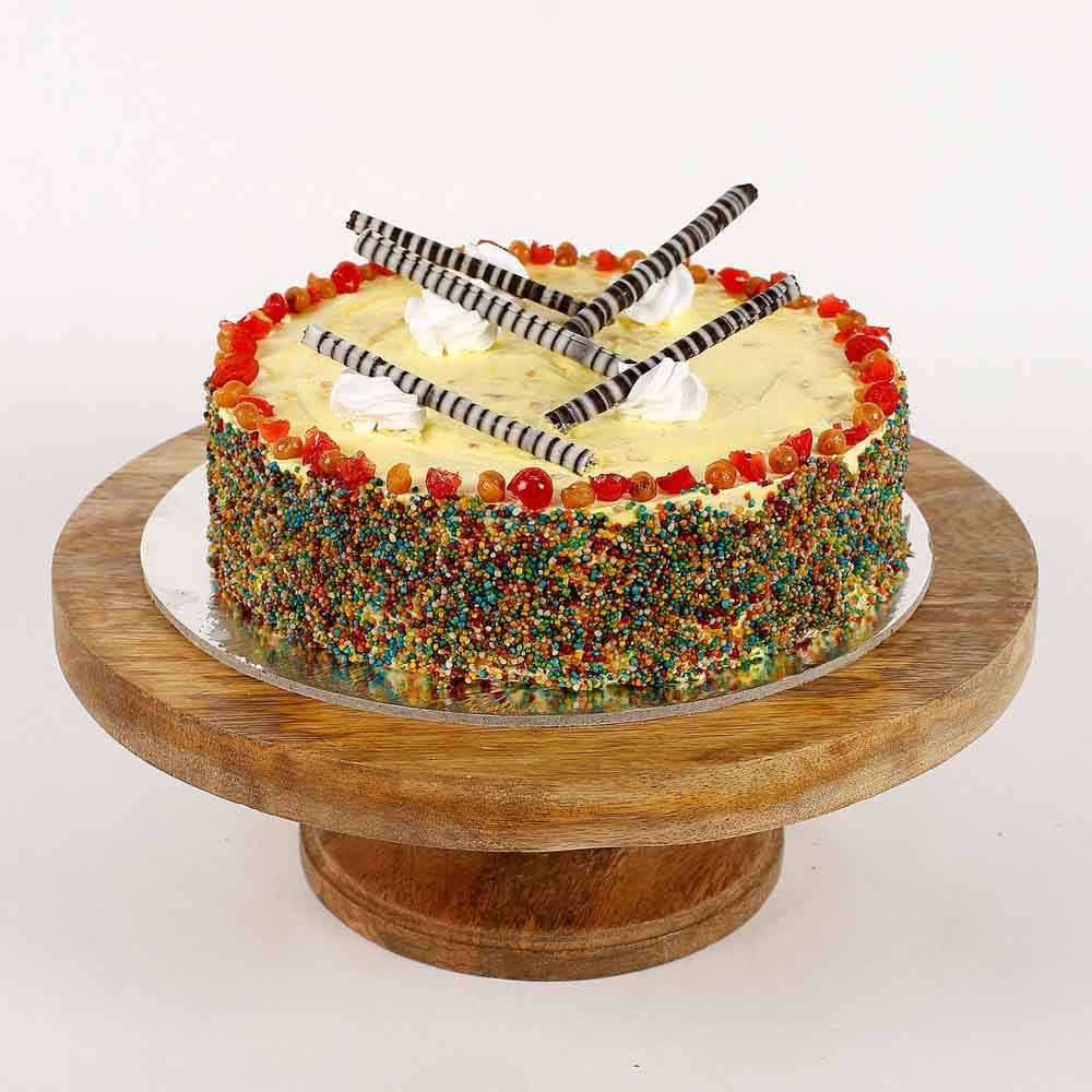 Colored Vermicelli Cream Cake
