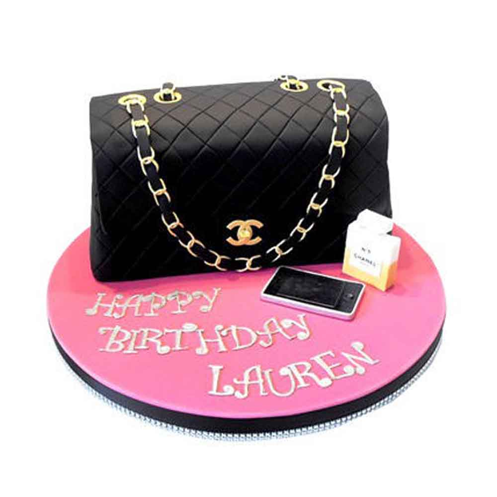 All India Cakes-Classy Chanel Cake 2kg