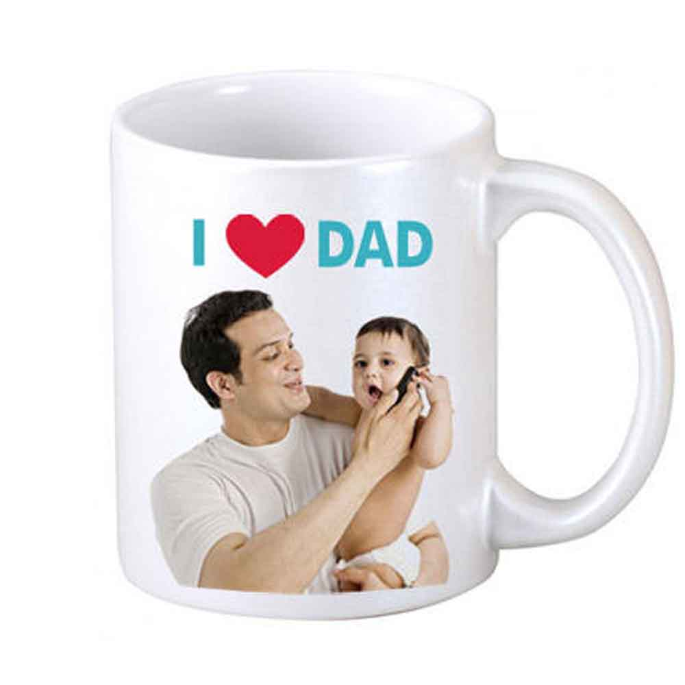 Mugs-I Love Dad Personalized Coffee Mug