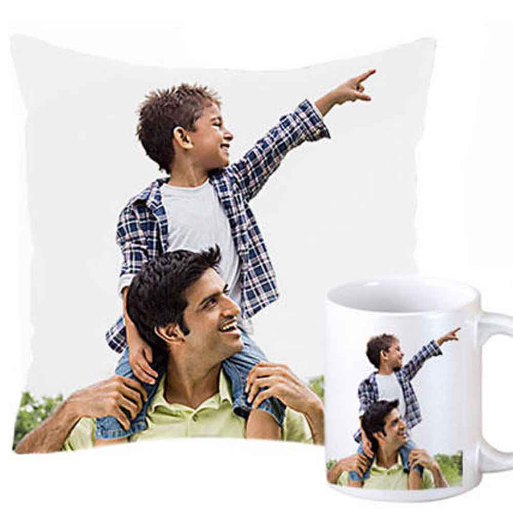 Miscellaneous-Personalized Cushion and Mug For Dad